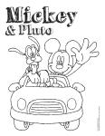mencoret-coret ICE Mickey dan Pluto