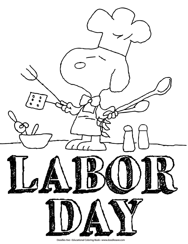 Labor Day Coloring Fun | Doodles Ave