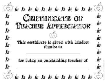 doodles-ave-a-plus-teacher-certificate
