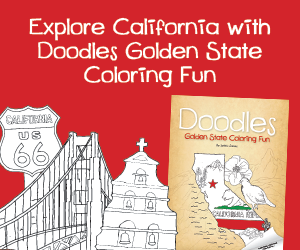 Doodles Golden State Coloring Fun, California Coloring Book