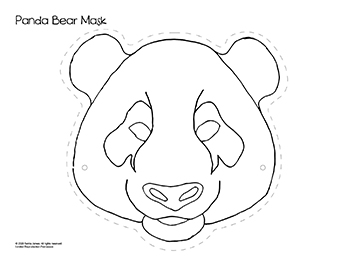 panda bear mask